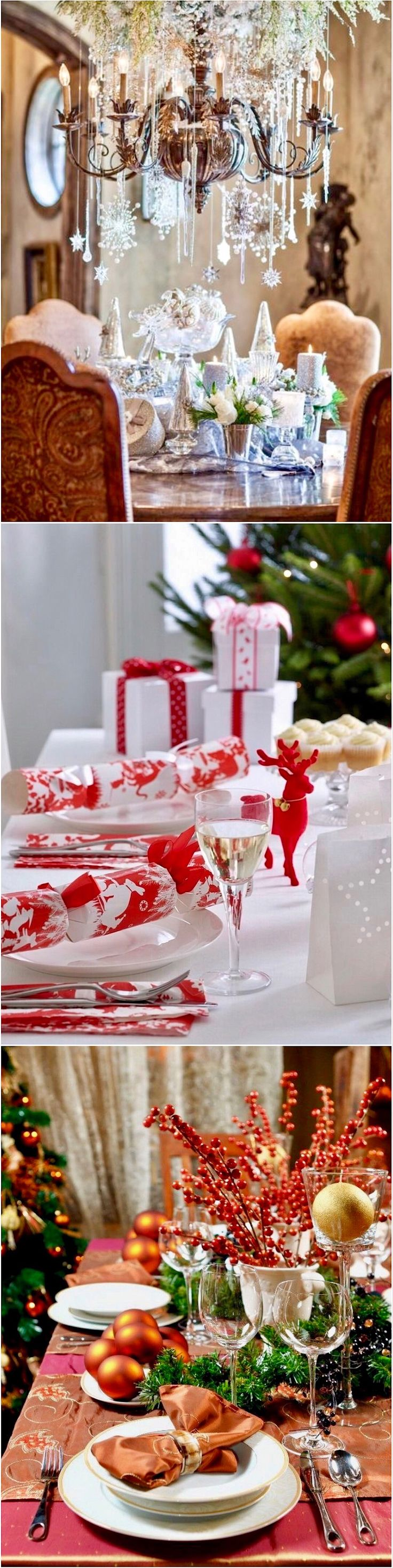 Contemporary Art Sites Top Christmas Table Decorating Ideas