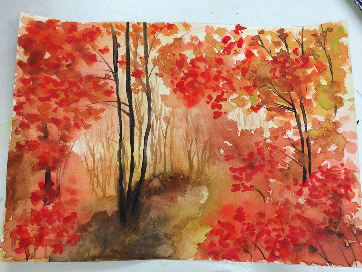 Watercolor - landscape - Andrea Meyerholz