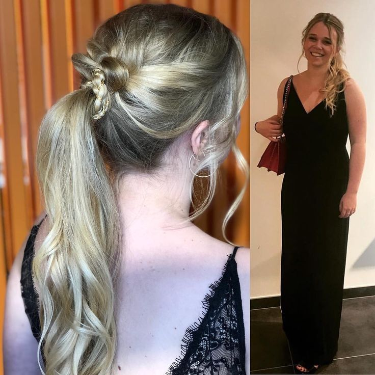 Friday night it was PROM NIGHT. Sometimes a simple ponytail can be stylish.  #ponytail #hairupdo #goldenwire #blondhair #promdress  #prom #thathappyness #fordisloveofhair #lovinghairupdos