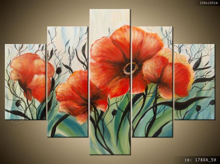 Kwiaty Obraz Tryptyk 150x105 Obrazy Tryptyki