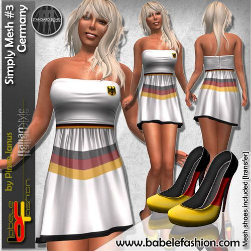 Germany flag dresses by babele Fashion