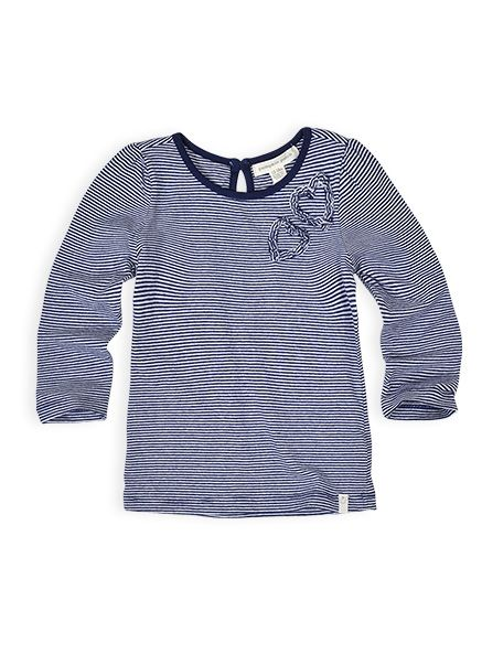 Pumpkin Patch - tops - girls core knitted long sleeve tee - W4EG12003 - crown blue - 0-3m to 12