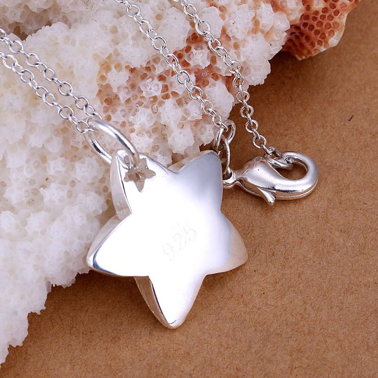 Fashion 925 Silver Star Necklaces For Women Charm Pentagram Pendant Necklace 925 Jewelry Collares Mujer Accessories NP032