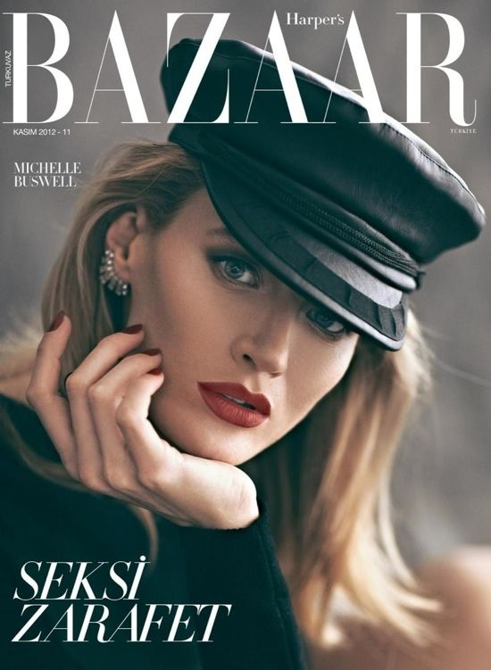 Michelle Buswell photographed by Koray Birand  for the cover of Harper's Bazaar Turkey, November 2012.