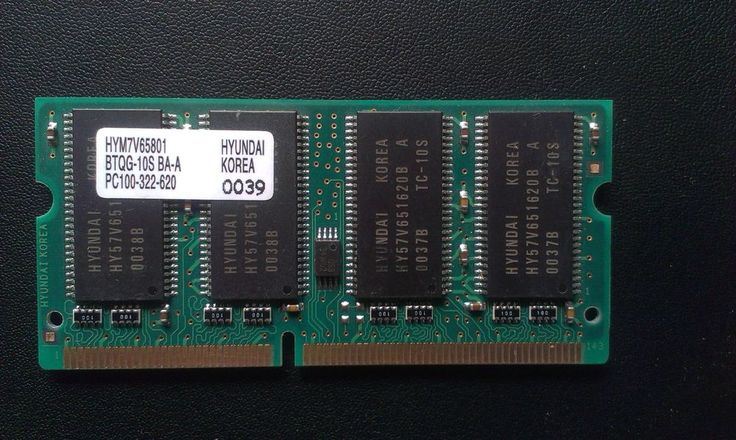 HYUNDAI HYM7V65801 64MB PC100 144-PIN SDRAM SODIMM
