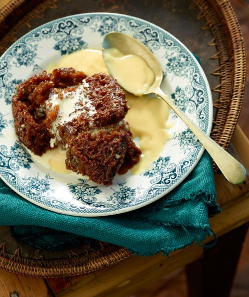 Traditional South African Malva Pudding.