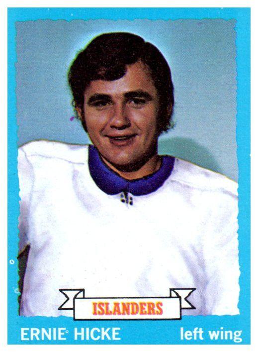 1973 Topps Ernie Hicke New York Islanders