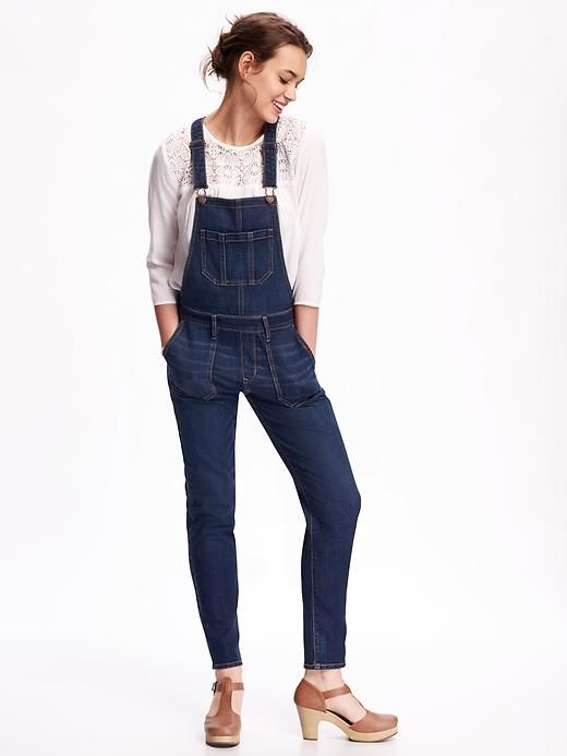 Old Navy Skinny Denim Overalls