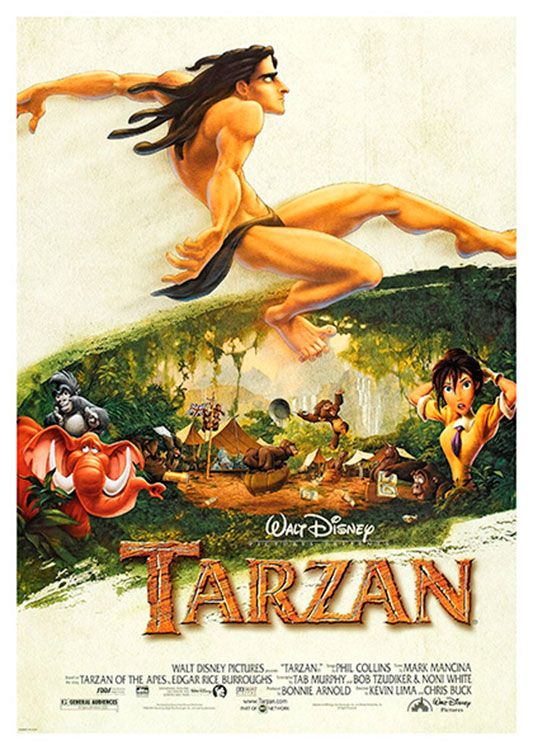 Tarzan Movie Poster, available at 45x32cm. This poster is printed on matt coated 350 gram paper.