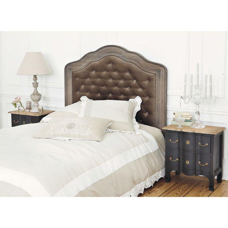 gallery of chevet noir versailles tte de lit maisons du monde with tete de lit maison du monde 160. Black Bedroom Furniture Sets. Home Design Ideas