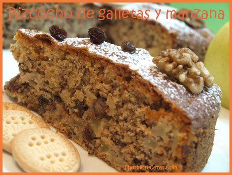"""Este bizcocho es muy parecido al """"Bizcocho de chocolate y galletas"""" de Silvia. El ingrediente principal es el mismo, que son las galletas. Lo que cambia es"""