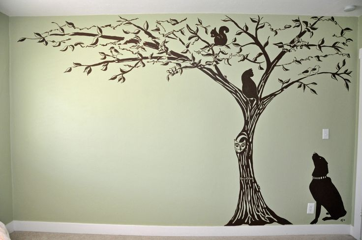Custom Wall Mural painted by Jennifer Kretschmer. See more images at: http://www.houzz.com/pro/webuser-2459424/j-kretschmer-architect-art-architecture