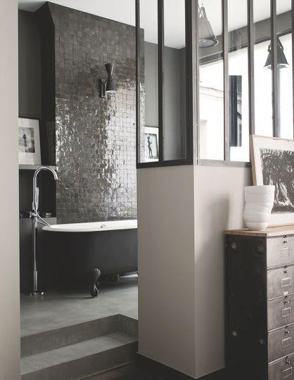 Verrière pour séparer la salle de bain - Photo Christoph Theurer