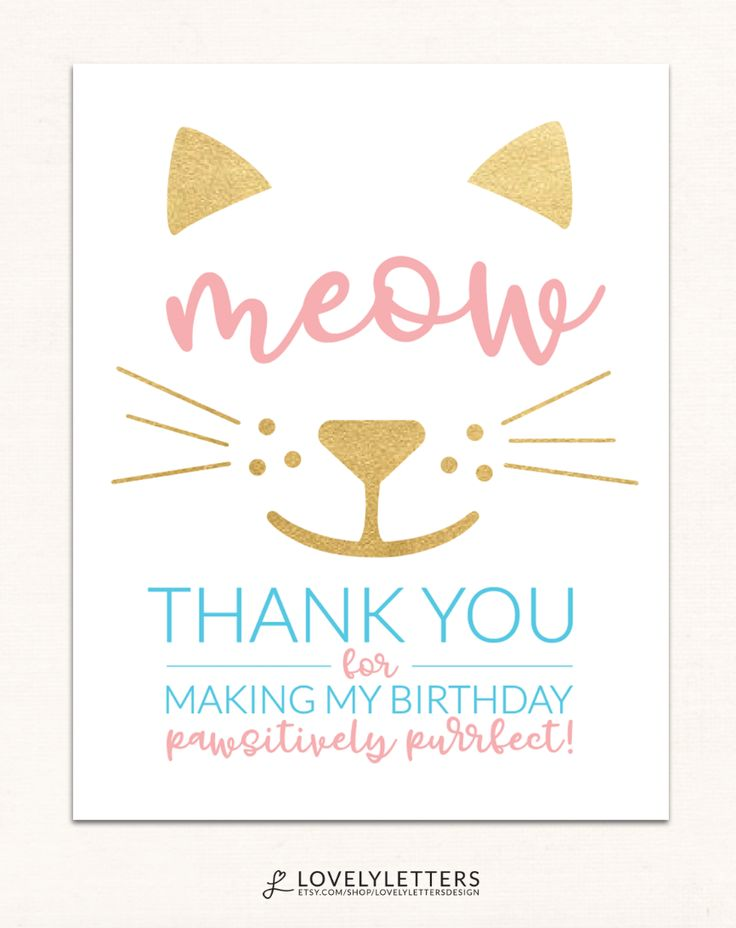 Best 25 hello kitty invitation card ideas on pinterest hello kitty thank you kitten thank you card cat thank you card purrfect paw stopboris Gallery