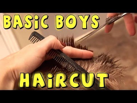 HOW TO CUT BOY'S HAIR // basic boys haircut // hair tutorial - YouTube