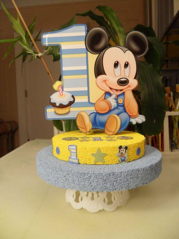Baby Mickey 1e / First / een verjaardag Cake Topper