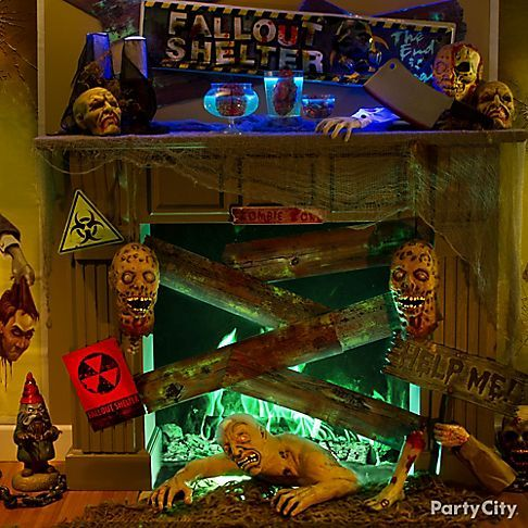 7 killer zombie party ideas create a foreboding fallout zone for the zombie apocalypse find this pin and more on halloween dcor by partycity - Party City Halloween Decorations