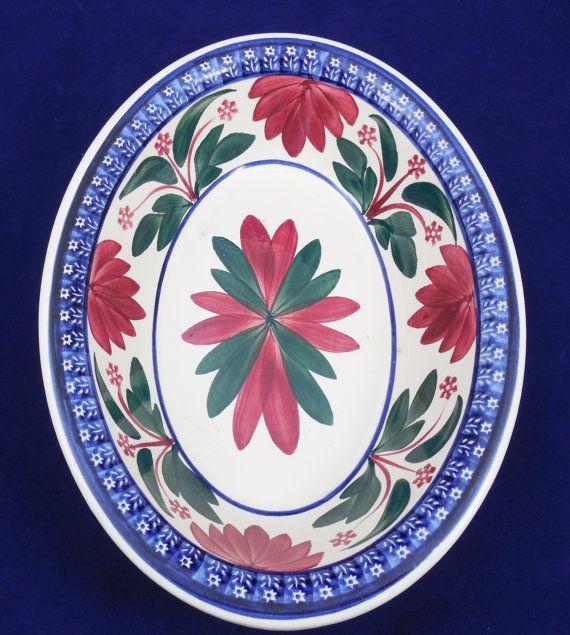 "Stick Spatter Pottery Bowl, Societe Ceramique Maestricht, Made in Holland 9""…"