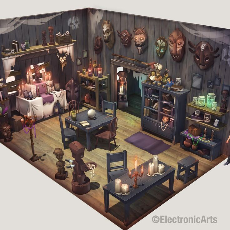"190 lượt thích, 13 bình luận - Miles Dulay (@milesdulay_art) trên Instagram: ""Voodoo environment #conceptart, back when I was @ EA working on theSims. This was really fun to…"""