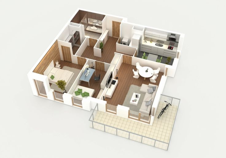 apartment 3d isometric view more on: http://www.proestate.pl/pl/artykul/adalberto/1490/1457.html