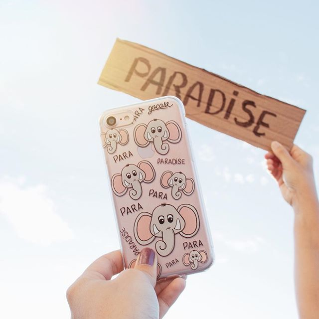 PARA-PARA-PARADISE! Aos fãs do #coldplay, segue aí  um lançamento para voxêêês. {case: paradise}  [DISPONÍVEL PARA IPHONES, SAMSUNGS E OUTROS APARELHOS] ✌ #gocasebr #instagood #iphone7plus #elephant #paradise #music #lovegocase