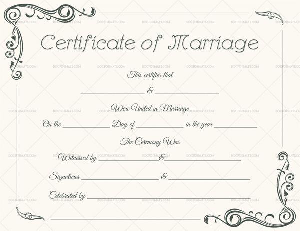 68 best Marriage Certificate Templates images on Pinterest - sample marriage certificate