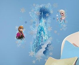 Build a Disney Frozen Ice Palace On Your Wall With Elsa and Anna Wall Decals