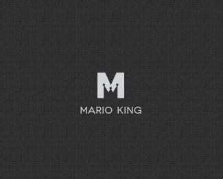 This is also a very simple logo for Mario King. While I am a little unsure what he actually does the connection between the logo and the name is flawless. I assume he is a designer of some sort so I think it would work well as an established brand logo.