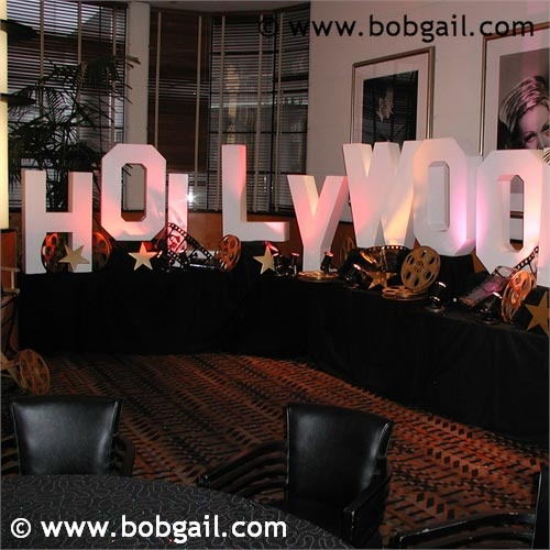 Hollywood Letters for a glamorous event. #themedevents