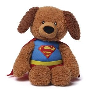 DC Comics Griffin as Superman Stuffed Animal Plush Griffin the dog dressed up as Superman. He is dressed in an accurate Superman costume. http://awsomegadgetsandtoysforgirlsandboys.com/gund-superhero/ Gund Superhero: DC Comics Griffin as Superman Stuffed Animal Plush