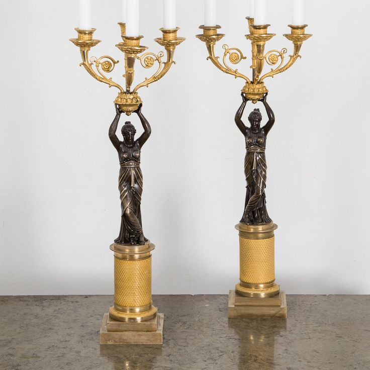A Pair of French Empire Period Candelabras For Sale at 1stdibs