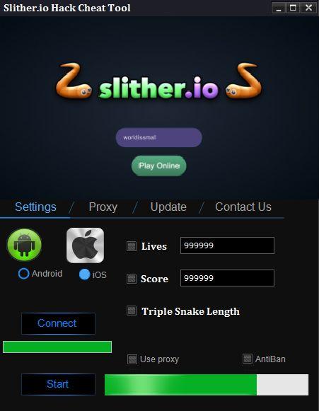 Slither.io Hack Cheat Tool 1