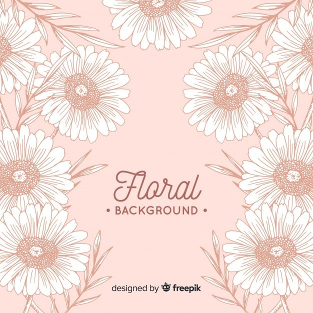 Download Hand Drawn Floral Background For Free Floral Background Floral Illustrations Cherry Blossom Background
