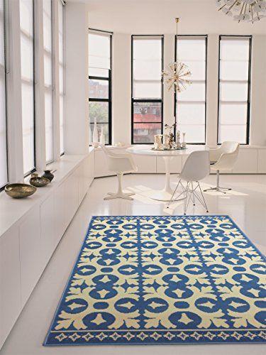 Benuta Teppiche Moderner Designer Teppich Vintage Swing Blau 120x170 Cm