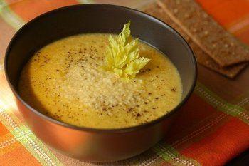 Крем-суп из кабачка с курицей
