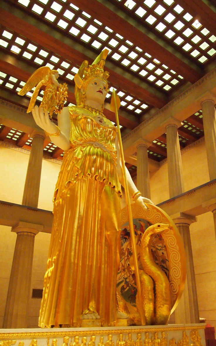 Athena at the Parthenon in Nashville, TN. 42 ft high replica of the Athena sculpture in the original Parthenon. Amazing!
