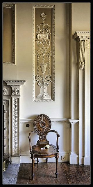 Robert Adam (of The Brothers Adam - design and architecture) and Thomas Chippendale (master furniture builder) are such perfectly paired partners. Lovely.