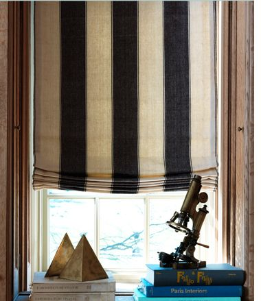 roman fabric shades in bold stripe find this pin and more on fashionable window