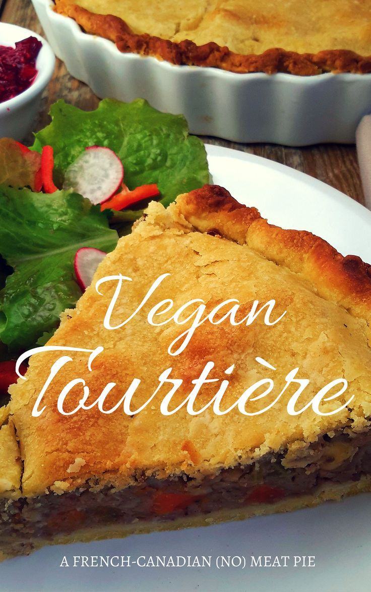 Tourtiere is a meat pie served at Christmas in French Canada. This version is totally vegan from the crust to the filling. A special mix of spices gives it it's distinctive flavour. Great to enjoy all year round!