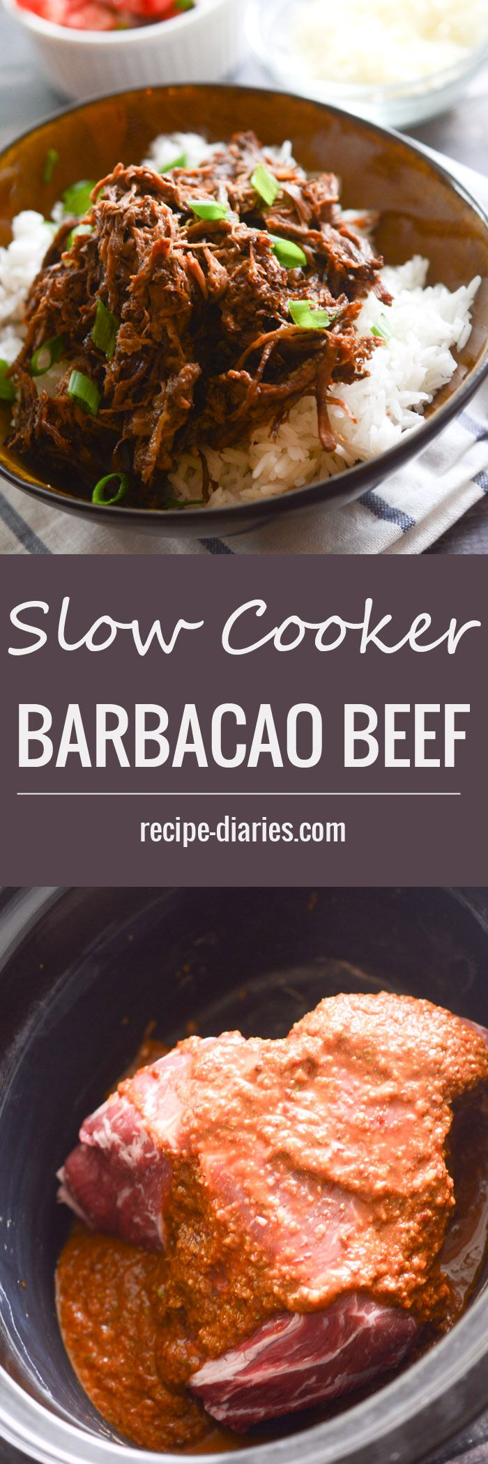 Slow Cooker Barbacao Beef - 4 WWP+ per 1/2 cup serving - Recipe Diaries