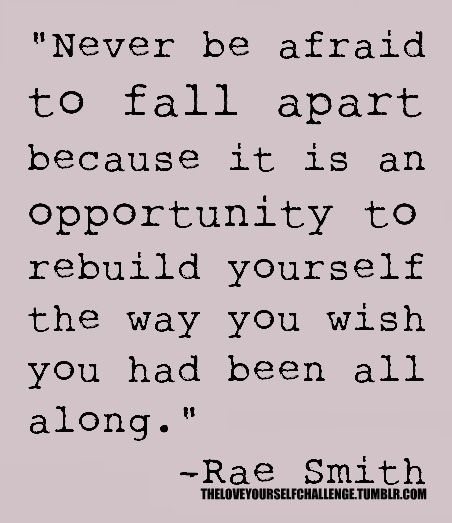 Opportunities to rebuild yourself