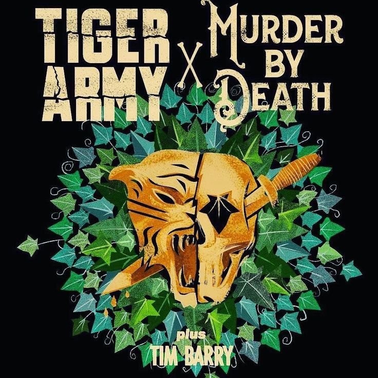 #rockabillyrepost Tiger Army & Murder By Death are here at GML tonight y'all! Get your last minute tix and come join the party!