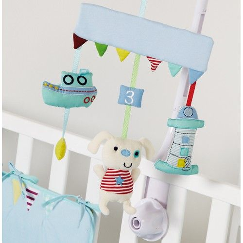 Clair de Lune Ahoy Cot Mobile from Clair de Lune part of the Cot Mobiles range available at PreciousLittleOne