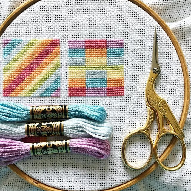 Check out my latest cross stitch project - Pastel Rainbow Blocks - a set of patterns based on quilt blocks in pretty soft rainbow colours.