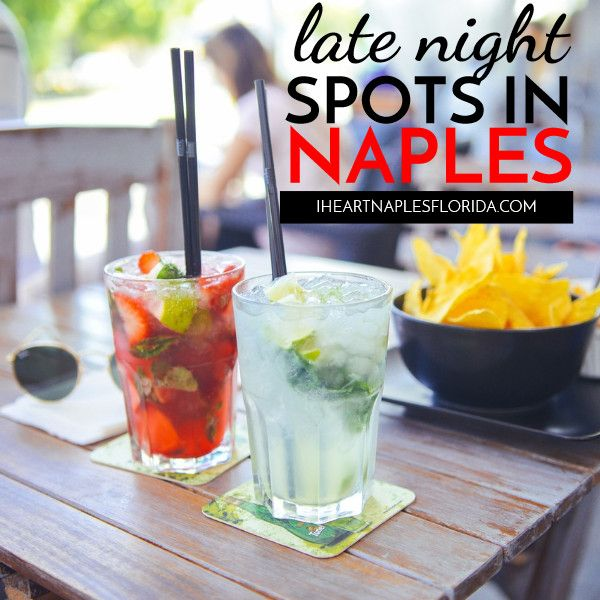 The late night Naples hot spots offer drinks, dining, and dancing! See which bars, sports bars, and restaurants are open late in Naples.