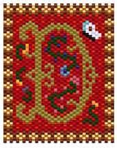 Medieval Alphabet D by Jennie Might