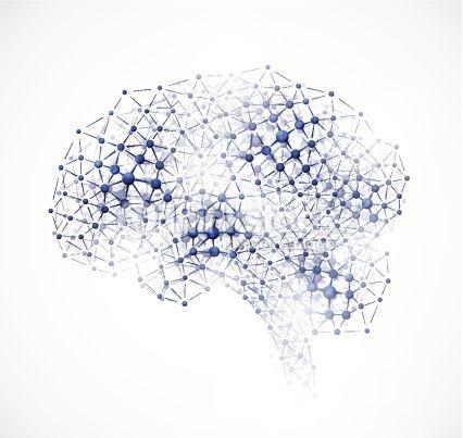 Molecular Brain Vector Art