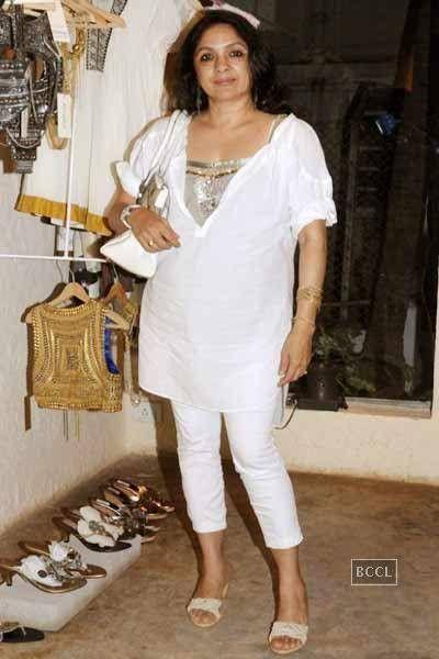 Neena Gupta at Kanika and Masaba's collection preview at Zoya ...