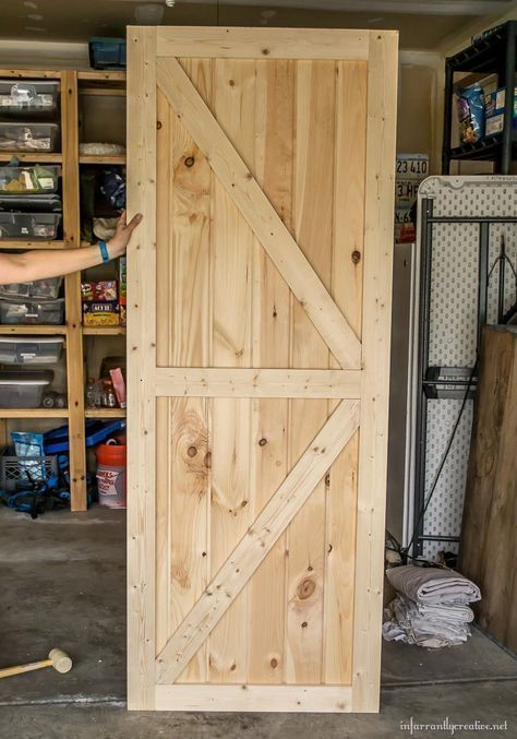 Making A Barn Door More Woodworkingideas Woodworkingprojects