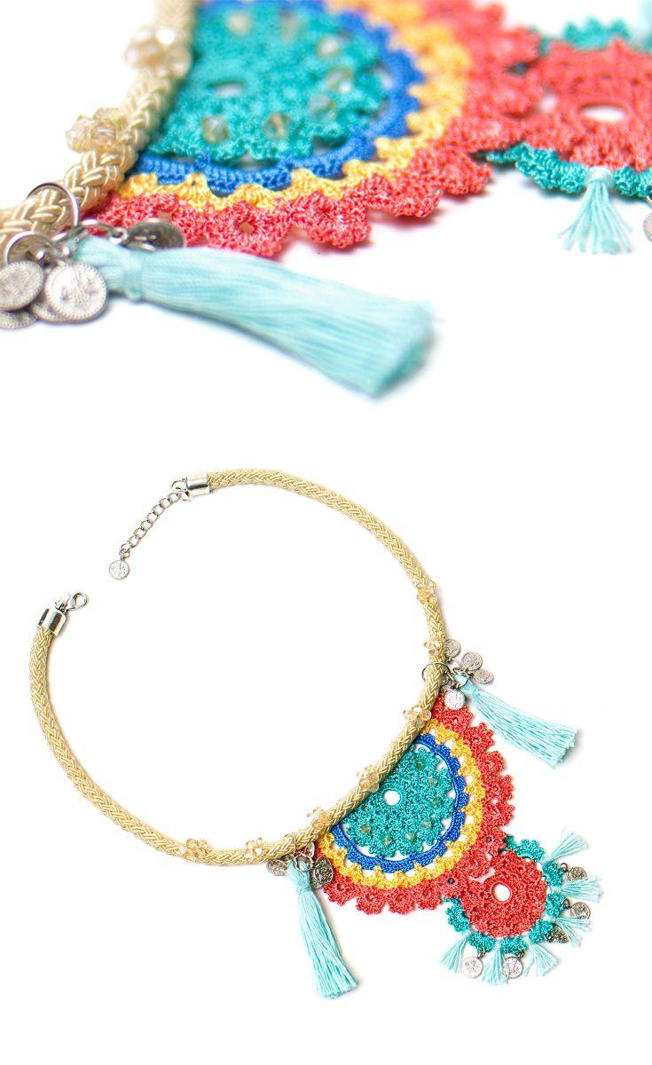 Bohemian Crochet Tassel Necklace